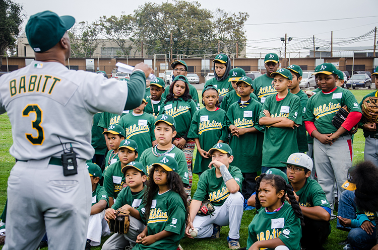 Richmond kids learn about passion, hard work and fundamentals from baseball greats.