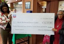 Chevron surprises senior center with donation
