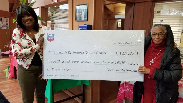 Chevron surprises senior center with donation