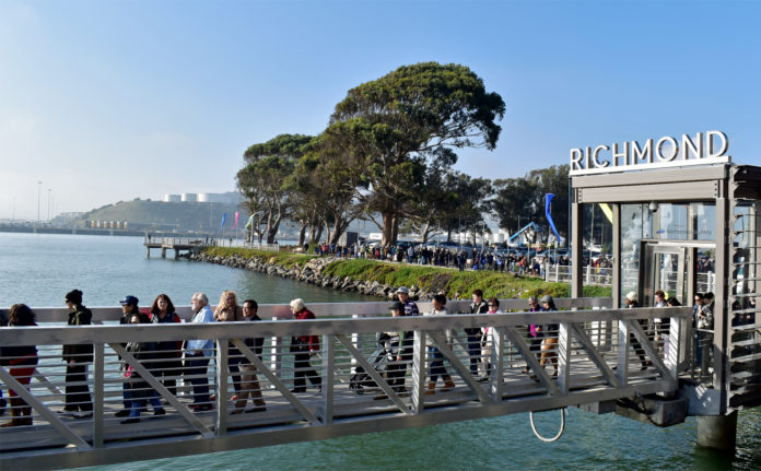 Richmond Ferry ridership exceeds first month expectations