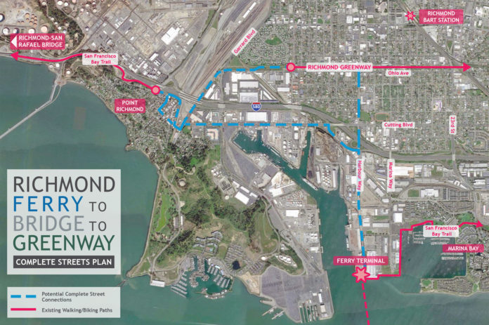 Richmond 'Ferry to Bridge to Greenway Complete Streets Plan' unveiled