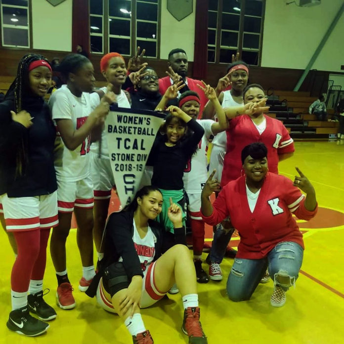 After defeating Pinole Valley 61-51 at home on Thursday, the inspiring Kennedy High girls basketball team capped a dream season by topping Vallejo High 66-23 to win the Tri-County Athletic League tournament title on Saturday at St. Mary's. The Eagles dominated their final game from start to finish, jumping to a 14-2 lead in the first quarter and never looking back. It's a testament to a remarkable season in which Head Coach George Jackson has led a team that played with a short roster all season, at one point winning games with just five players. Senior Ukiah Ware led Saturday with 28 points and 8 rebounds, hitting 71-percent of her shots, according to stats provided on MaxPreps.com. Junior Ana Daniels added 19 points, eight steals and five assists, Jermila McElroy had nine points and five steals, Hadassah Williams had five points and three rebounds and Ashanti Stricklen had five points, three assists and a team leading 12 rebounds. The team, which is next headed to the North Coast Section playoffs, is led by Jackson Jr. and also Assistant Coaches Tamara Denise Johnson and Shunise Criswell.