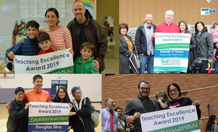 4 WCCUSD teachers surprised with Teaching Excellence awards