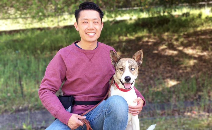 Jonathan Wong, owner and trainer of Pack Leader Dog Training