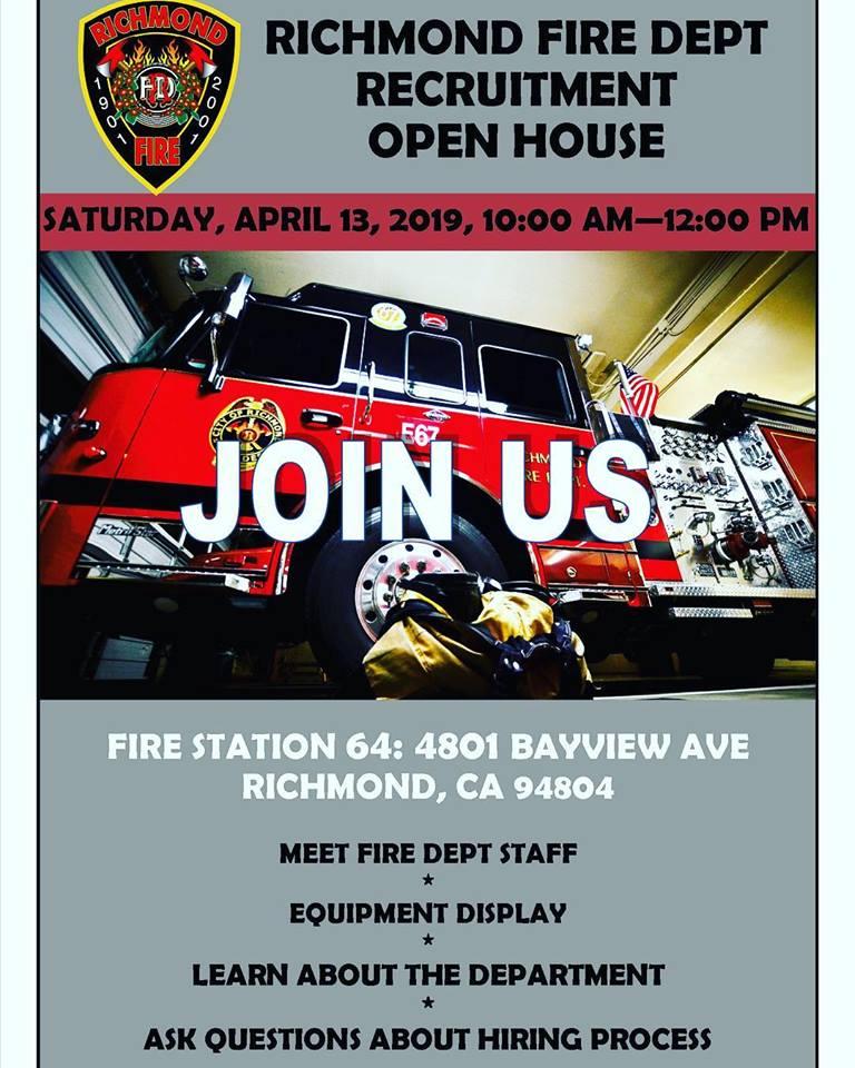 Richmond Fire Department to hold recruitment open house   Richmond