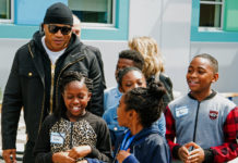 LL Cool J visits Making Waves Academy in Richmond