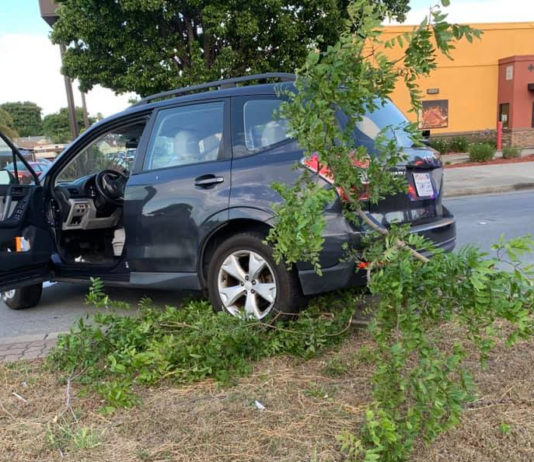 Stolen car driver fails to clear San Pablo Ave. median during getaway