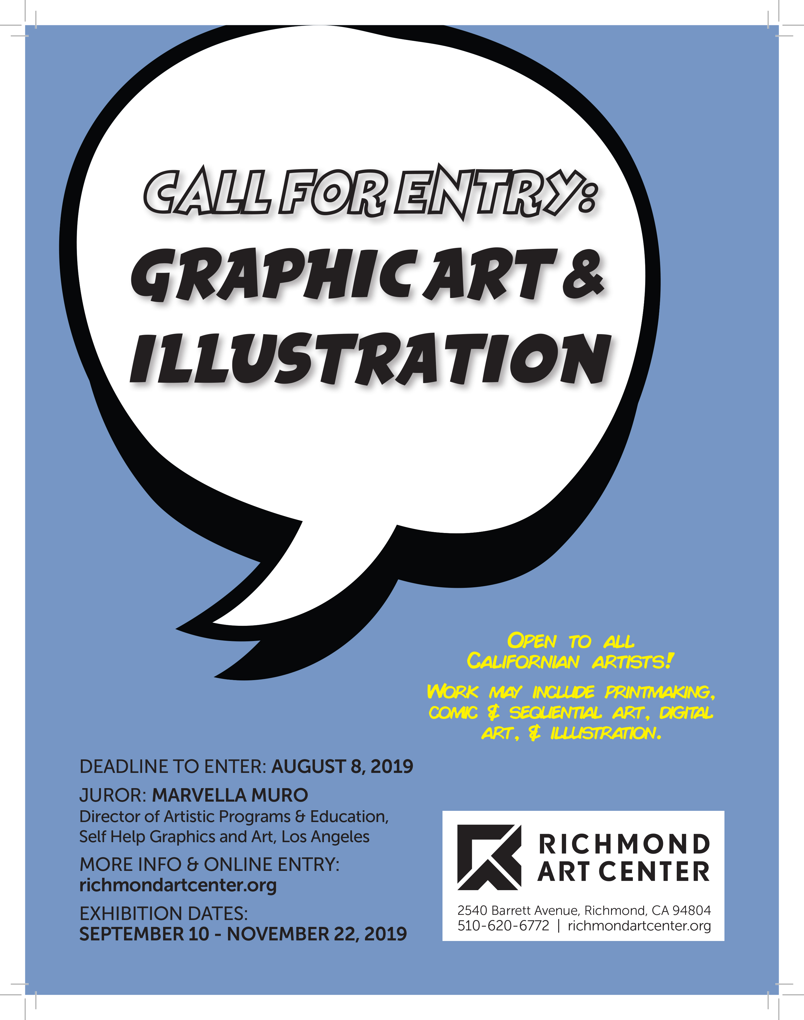 Richmond Art Center invites submissions of graphic art and