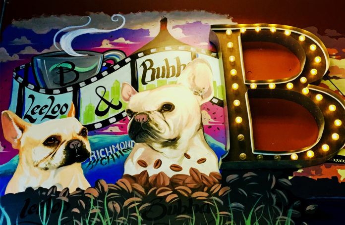 hat's precisely the case with the Bubbaloo Café, where the owners Gio Gelera and Candice Nguyen named their cafe by combining the names of their beloved pooches Bubba (an English bulldog) and Lee Loo (a French bulldog)—and included a mural of them, to boot. Located at 1402 Marina Way South in Richmond