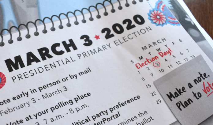 The Presidential Primary Election is set for March 3, 2020.