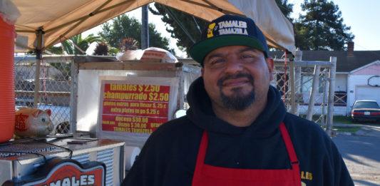 Cruz Arroyo of Richmond's Tamales Tamazula provides secret ingredient