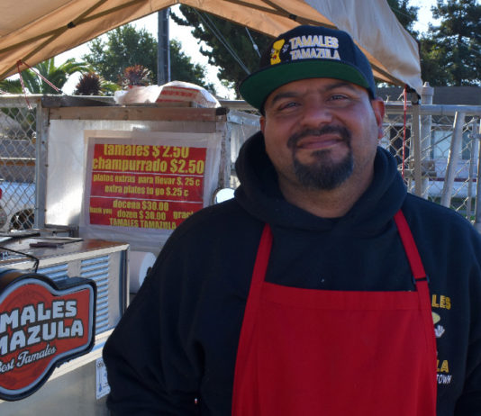 Cruz Arroyo of Richmond's Tamales Tamazula provides secret ingredient