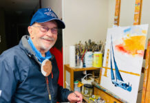 Richmond artist sailing strong into his 90s