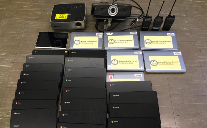 25 laptops stolen during Wilson Elementary break-in recovered by police