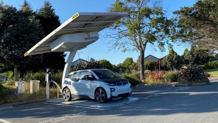 Marina Bay Park in Richmond has new solar-powered EV charging station