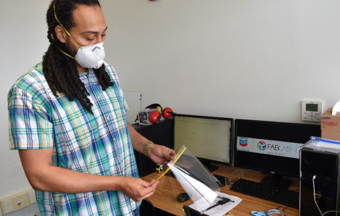 Fab Lab Richmond, Chevron partner to produce face shields for frontline workers