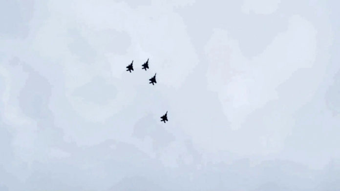 Fighter jets soar over Richmond in salute of COVID-19 frontliners