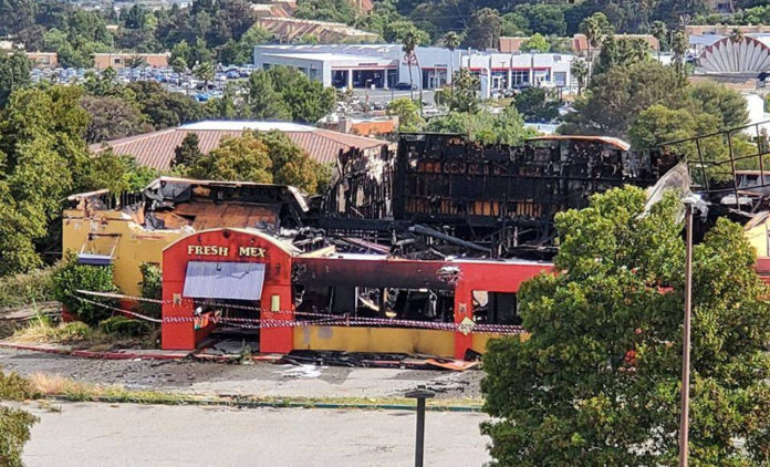 Fire ravages old former Chevy's in Richmond's Hilltop