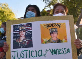 Large vigil held for slain soldier Vanessa Guillen in Richmond