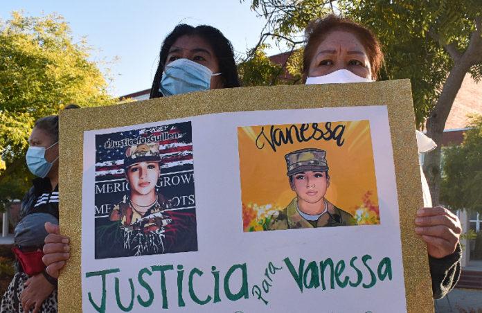 Large vigil held for slain soldier Vanessa Guillen in Richmond