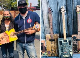 Cigar boxes serve as musical muse for local artist