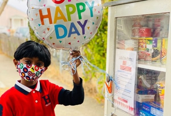 Richmond boy launches 24-hour food pantry for birthday