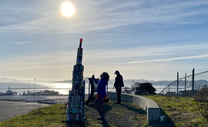Beer Can Monolith pops up atop Point Potrero