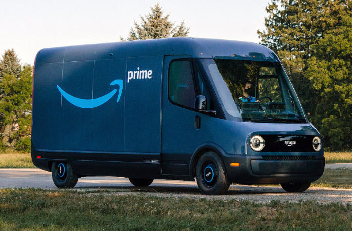 Amazon rolling out new electric delivery vans from Richmond station