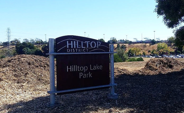 Proposal for disc golf course in Hilltop Lake Park