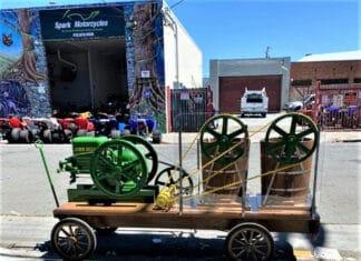 Antique John Deere engine powers free 'Ice Cream Social'
