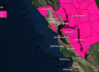 Red Flag Warning issued for North Bay and East Bay