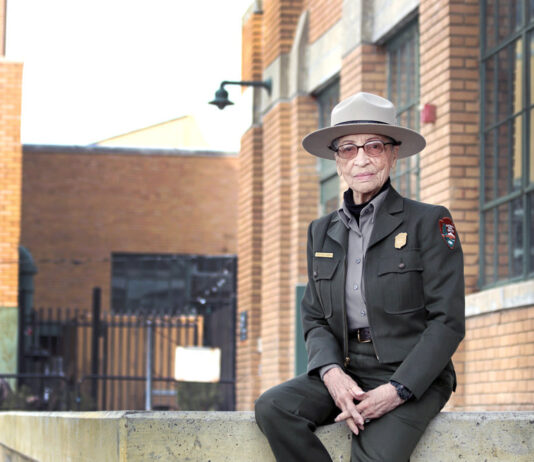 Join National Park Service ranger, Betty Reid Soskin for an hour long informal virtual chat, every Thursday, at 2 pm, beginning May 13. Betty will share her thoughts and insights and answer questions in this informal virtual gathering. For those who have met her, this will be another opportunity to connect and share. For those who have yet to meet her, this will be a chance to ask those questions you have always wanted to ask. The session will be moderated by Ranger Armand Johnson, and may vary in length depending on how Betty is feeling. This free program is open to all ages and no reservations are required. To view the virtual event or for more information, please visit the park website at www.nps.gov/rori. Or call the Rosie the Riveter/ WWII Home National Historical Park (NHP) Visitor Education Center at (510) 232-5050 x 0. At Rosie the Riveter/WWII Home Front NHP, Betty illuminates the invisible histories of African Americans and other people of color, and her efforts, demonstrate how her work has impacted the way the National Park Service conveys such history to audiences across the United States. Rosie the Riveter/WWII Home Front National Historical Park in Richmond, CA is the flagship National Park Service site selected to tell the story of Rosie the Riveter and WWII Home Front workers of all kinds. This unique park chronicles the explosive growth of wartime industry, the innovations fostered by visionaries like Henry J. Kaiser, and the extraordinary history of ordinary people who were challenged as never before and came together to overcome wartime odds. The Rosie the Riveter Visitor Education Center is open seven days a week from 10 AM to 5 PM and is located at 1414 Harbour Way South, suite 3000, Richmond, CA 94804. For more information and directions to the Visitor Education Center, please call (510) 232-5050 x0 or visit to http://www.nps.gov/rori/planyourvisit/directions.htm. Admission to the Visitor Center and programs is free.