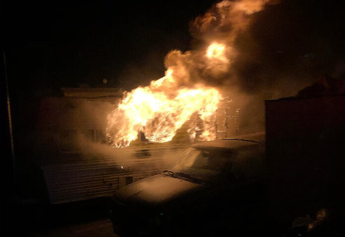 Fire breaks out at Richmond homeless encampment for second straight night