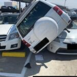 SUV driven off 5th floor, crash-lands on 4th floor, of Kaiser Richmond garage