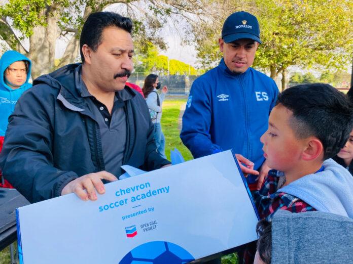 Richmond kids score 100 soccer kits from Chevron at Nicholl Park