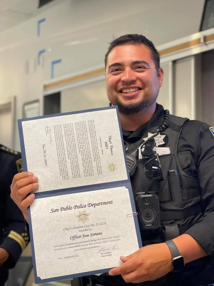 San Pablo officers commended for handling of armed young person's mental health crisis