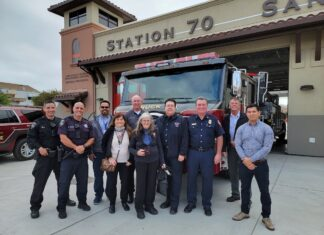 'Push-in' ceremony welcomes new fire truck to San Pablo station
