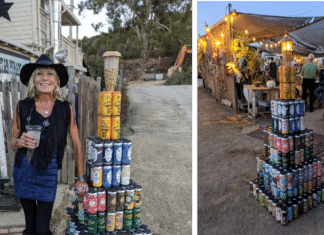 Beer Can Monolith creator debuts latest tower at Black Star